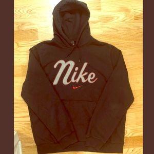 Like new NIKE women's pullover hoodie black & red
